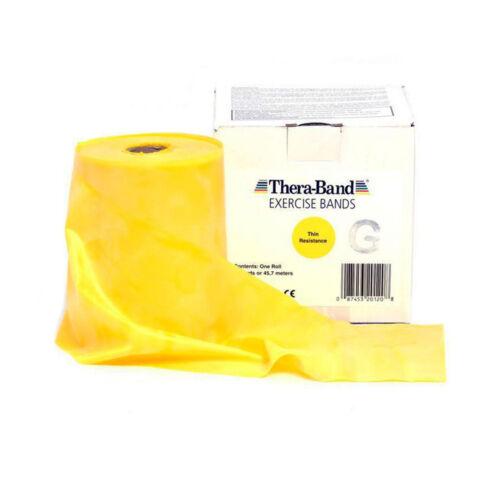 THERA-BAND ® 1,5 m gelb Gymnastikband Original Theraband von der Rolle
