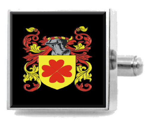 Maclagan Scotland Heraldry Crest Sterling Silver Cufflinks Engraved Box