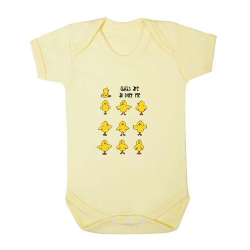 Funny Small Chicks Are All Over Me Infant Toddler Baby Cotton Bodysuit One Piec