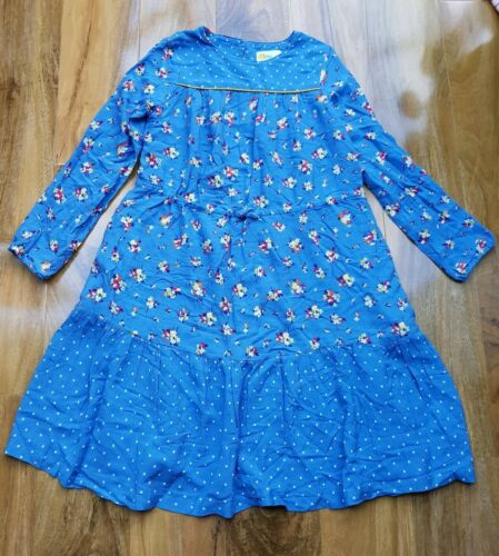Mini Boden GIRLS FLORAL Printed BLUE JERSEYDress SIZE 9-10 YEARS BRAND NEW G0636
