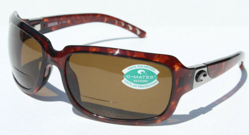 COSTA DEL MAR Isabela POLARIZED Sunglasses Bifocal 1.75 C-Mates Tortoise//Amber