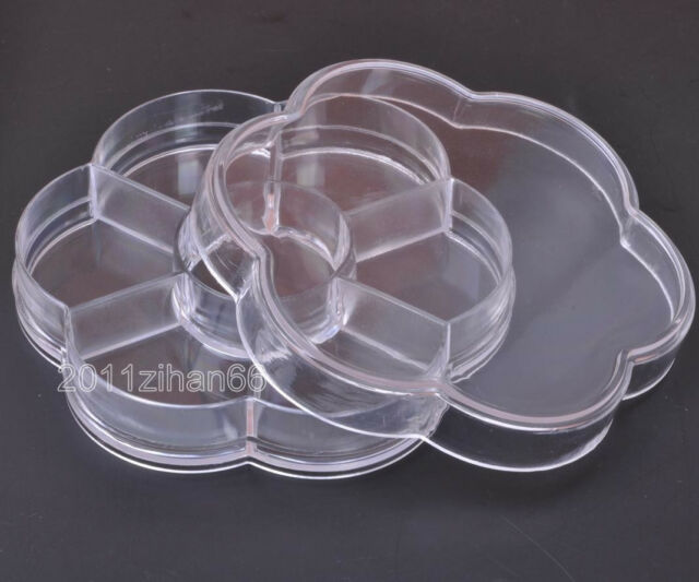 DIY Jewelry Boxes Transparent Storage Case Box Clear Beads Display 105mm