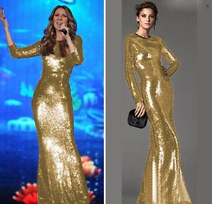 Gold formal dresses ebay