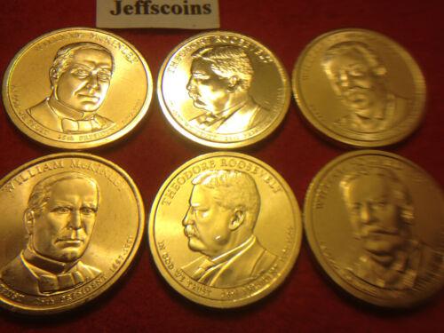 2013 P D William McKinley Theodore Roosevelt Howard Taft Dollar Presidential Set