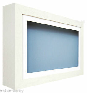 image is loading large deep shadow white box display frame for - Display Frame