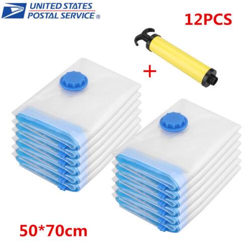 Strong Vacuum Storage Bags Space Saver Compressed Bag Vaccum Pack Saver w// Pump