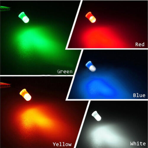 3mm//5mm LED Sortiment rot grün gelb blau weiß Leuchtdioden Diode Dioden Licht
