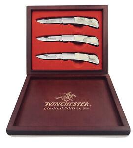3 Pc Winchester Limited Edition 2006 Box Folding Knives Knife Set   eBay