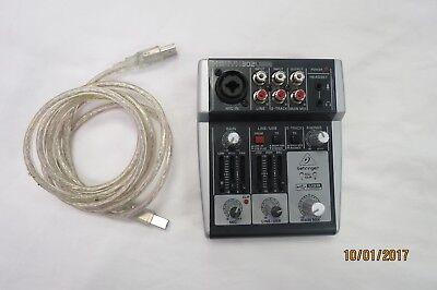 behringer xenyx 302usb audio interface premium 5 input mixer 4033653011334 ebay. Black Bedroom Furniture Sets. Home Design Ideas