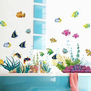 Sea Fish Home Decor Wall Decal Bathroom Kids Bedroom Decoration Wall Sticker Ebay