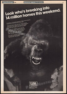 KING KONG LIVES_/_USA Weekend__Original 1986 Trade AD / pre-release promo_poster