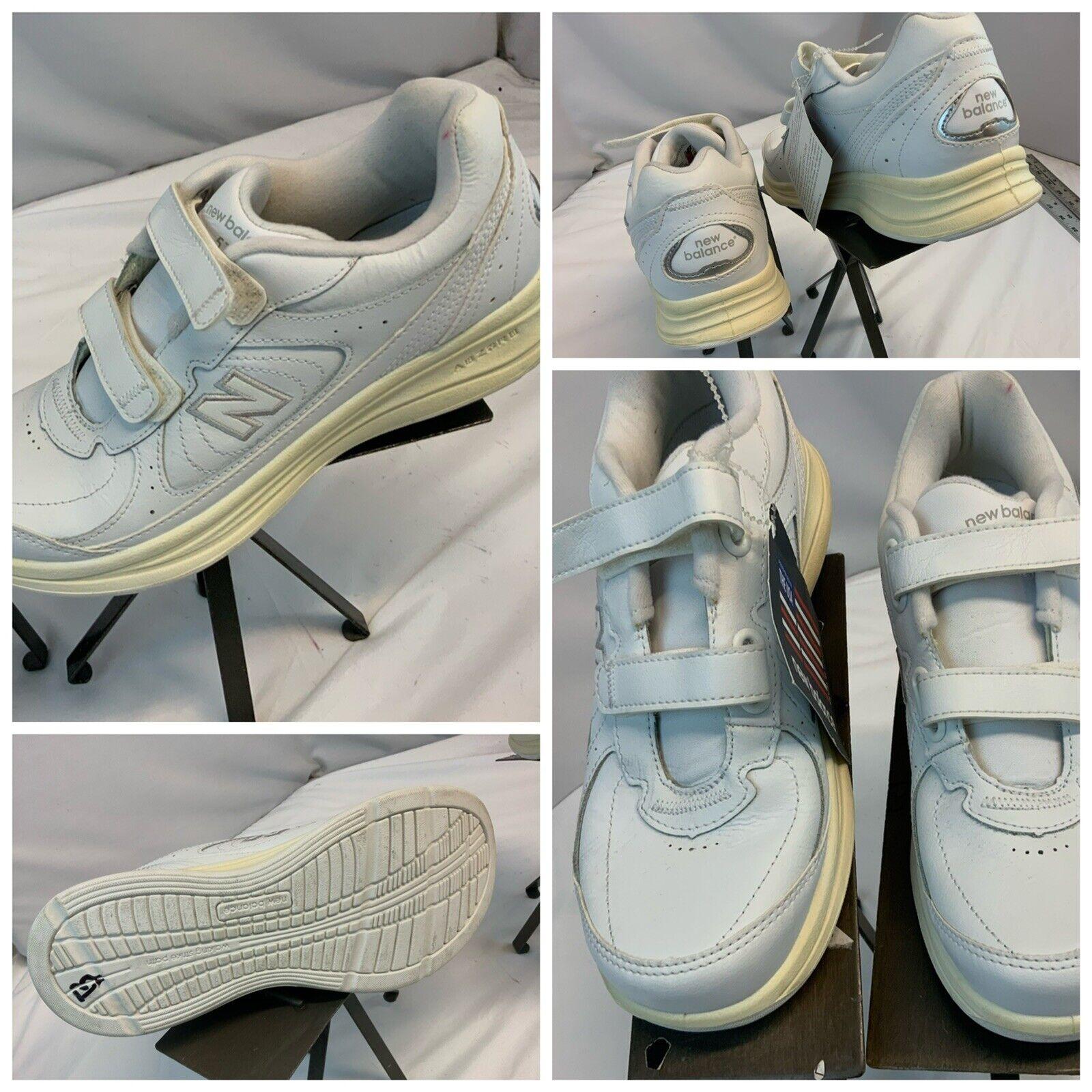 New Balance 577 DSL-2 Sz 8.5 AA White Leather Hook Shoes NWT YGI G1S-61