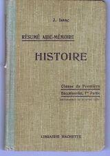 1932 - J.Isaac - Histoire - Bac.1ere Partie - Classe De Première /Édit.Hachette