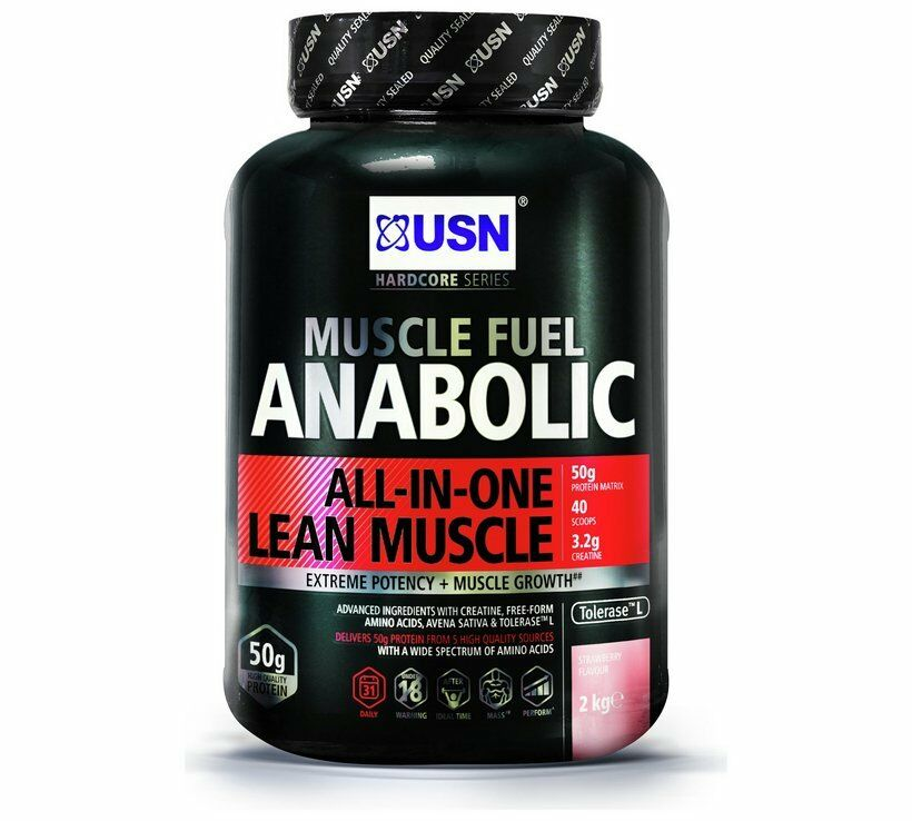 NEW USN 2kg Muscle Shake Fuel Anabolic Protein Shake Muscle Minerals And Sugars Strawberry_UK b0a86e