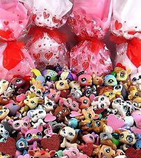 7 x Littlest Pet Shop RANDOM SURPRISE GRAB BAG ~ Dog & Cat ~ LOVE HEART GIFT BAG