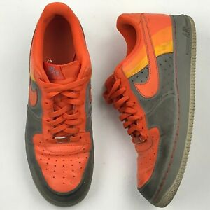 Details about Nike Air Force One '82 XXV Multi Tone Orange Grey shoes sz 13 US