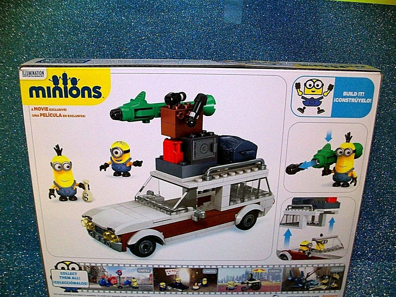 Mega Bloks Minions Minions Minions Despicable Me Movie Station Wagon Action Figures Kevin Stuart 074ea0