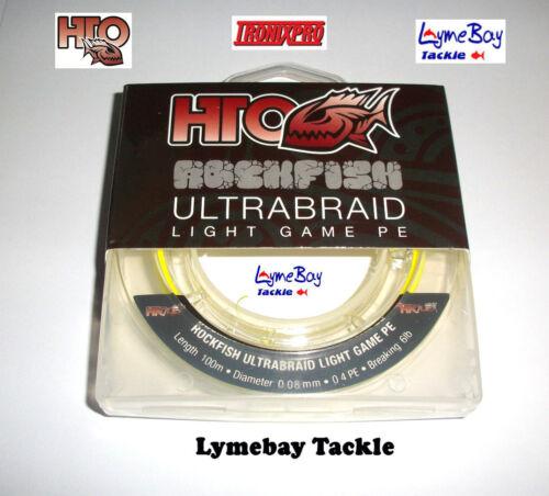 Lure Fishing LRF HTO Tronixpro Rockfish Ultrabraid 6lb /& 8lb 100m spool