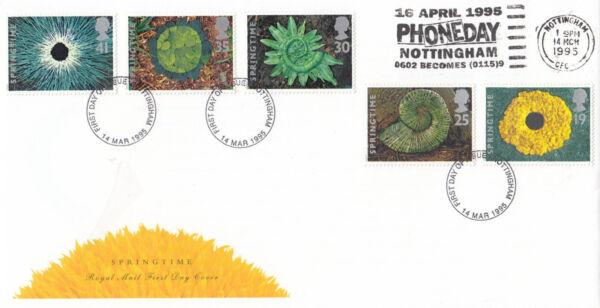 (04597) Gb Fdc Printemps Phoneday Nottingham Slogan 1995