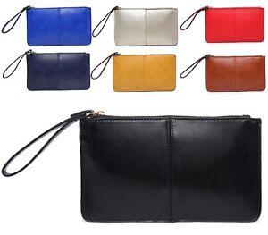 Fashion-Leather-Wallet-Wrist-Purse-Ladies-Long-Women-039-s-Envelope-Handbag-Clutch