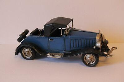 Pflichtbewusst Auto Oldtimer Blau Blechspielzeug Dekoration 331.008 Autos & Lkw
