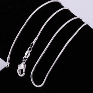 ASAMO-Damen-Herren-Halskette-Schlangenkette-925-Sterling-Silber-plattiert-Kette