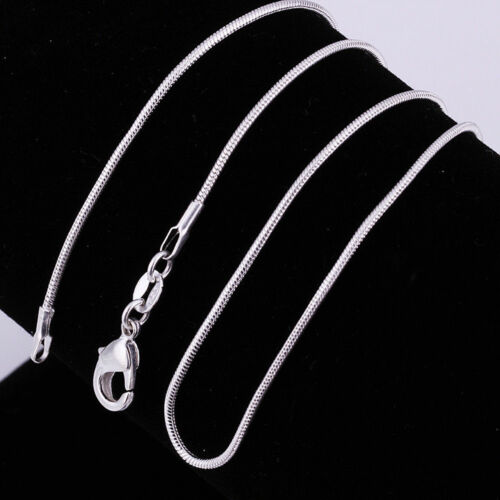 Asamo DONNA UOMO COLLANA CATENA serpenti 925 Sterling Argento Placcato Catena