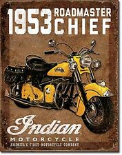 Indian Motocycles 1953 Roadmaster Chief metal sign 410mm x 320mm  (de)
