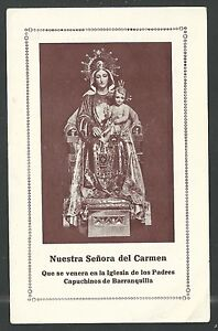 image pieuse ancianne de la Virgen del Carmen holy card santino estampa 80Xsb0pH-08050406-686128265