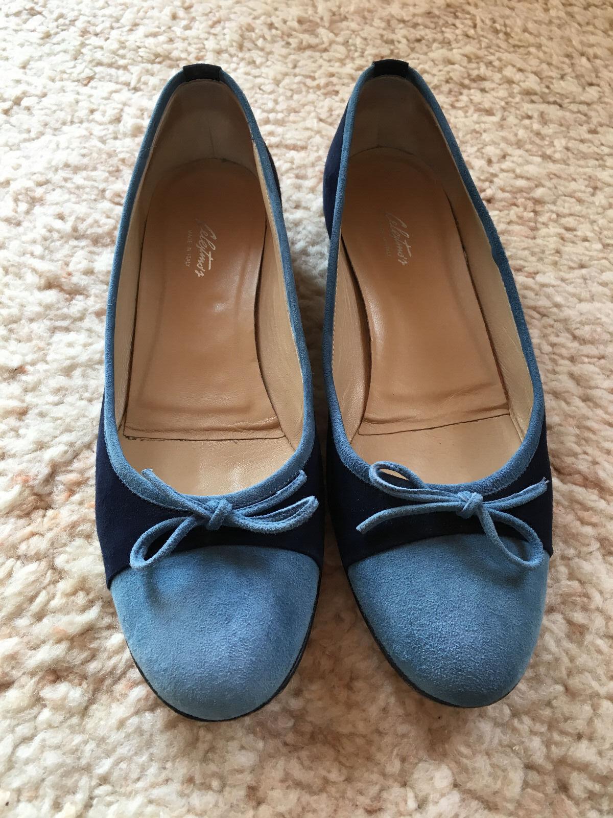 Damenschuhe Ballerinas Slipper Halbschuhe CELESTINO'S Echtleder Blau Größe 42 42 42 f4ebb6