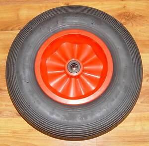 Luftrad-400-mm-Achsloch-25-mm-Schubkarrenrad-Nadelllager-150-kg-Rillennprofil