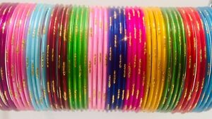 Indian-Bangles-Multi-Colour-Chudiya-48-Bangles-Women-Wear-Fashion-Bracelets-New