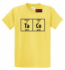 946c011b9 Taco Periodic Table Funny T Shirt Science Nerd Food Tacos College ...