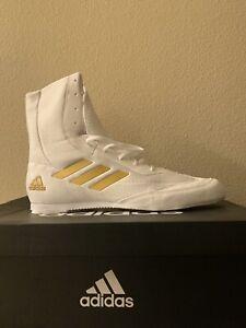 adidas white boxing shoes