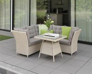 Poly Rattan Gartenmöbel Lounge Set Gartengarnitur Essgruppe