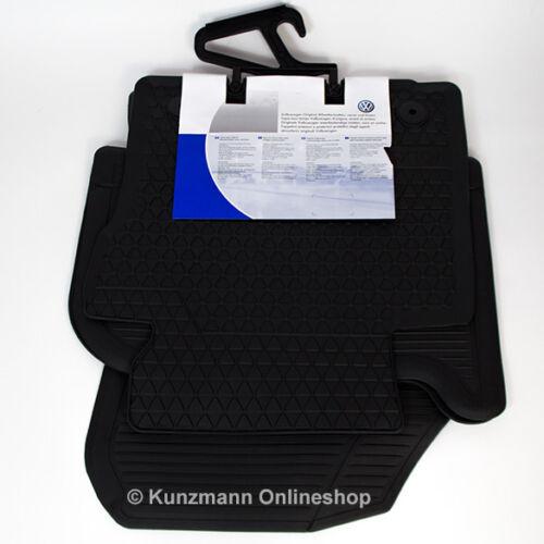 Original Volkswagen Touran Gummi Fußmatten mit Schriftzug schwarz 4-teilig NEU