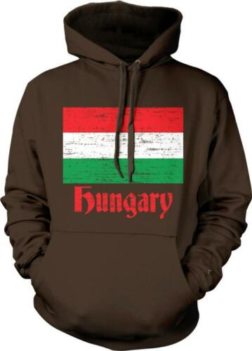 Hungary Flag Text Magyarorszag Buszkeseg Hungarian Pride Hoodie Pullover