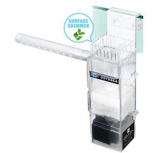 Clean-100-Surface-Skimmer-Aquarium-Filter-450-L-Pump-Plant-Freswater-Marine-Oil
