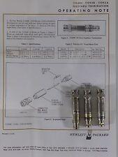 HP 11048C + 11095A Agilent Keysight 50 + 600 Ohm Feed Thru Termination 3 pcs.
