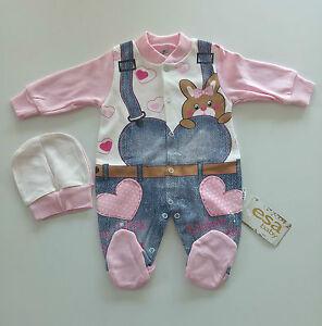 neu babykleidung baby strampler 2 tlg set gr 56 62 68 m dchen jeans rosa herz ebay. Black Bedroom Furniture Sets. Home Design Ideas