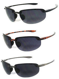 86e440c79887 Image is loading Rimless-Inner-Bifocal-Wrap-Around-Sunglasses-Sports-Sun-