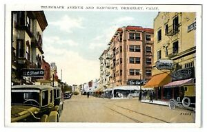 Telegraph-Ave-and-Bancroft-Berkeley-CA-Postcard-5D