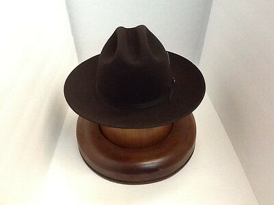 Stetson Cowboy Hat 6X Beaver Felt Chocolate Open Road With Hat Brush Cleaner 029618b0a09
