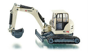 Siku-Super-3521-1-50-Construction-Site-Terex-TC75-Crawler-Excavator-Truck-Model