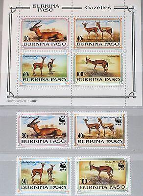 Afrika Dynamisch Burkina Faso 1993 1298-01 Block 139 970-73a Wwf Rotstirngazelle Gazella Mnh Professionelles Design Briefmarken