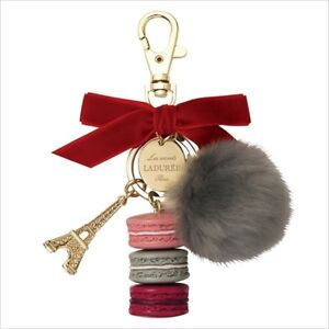 LADUREE-2017-Christmas-Limited-Key-Ring-Jules-de-Fett-Fur-Bag-Charm