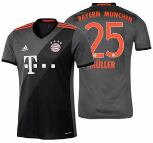 reputable site 38e38 c35f4 Details about ADIDAS THOMAS MULLER BAYERN MUNICH AWAY JERSEY 2016/17.