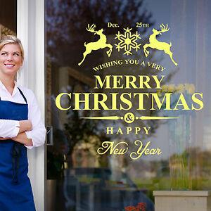 Buon-Natale-Felice-anno-Nuovo-Finestre-Adesivi-Murali-Decal-Natale-Decorazione-A384