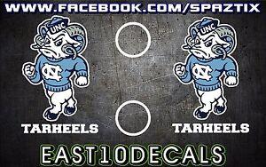 UNC ram head tarheels cornhole Decal 4 pc Set baseball football sticker package