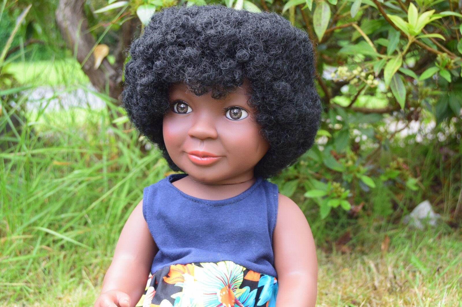 INTERACTIVE GReE 16  Diana per neonate BAMBOLA AFRO  africano nero-Capelli Afro 40CM  bellissima